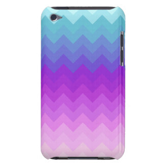 Pastel Ombre Chevron Pattern iPod Case-Mate Case