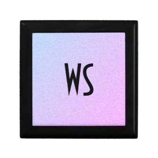 Pastel Ombre Glitter Monogram Small Square Gift Box