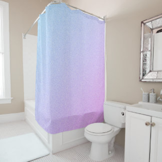 Pastel Ombre Glitter Shower Curtain
