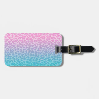 Pastel Ombre Leopard Luggage Tag