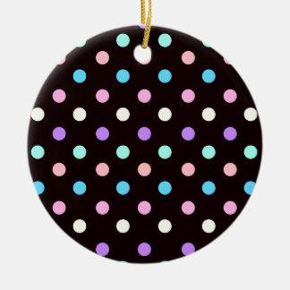 Pastel on Black Christmas Tree Ornament