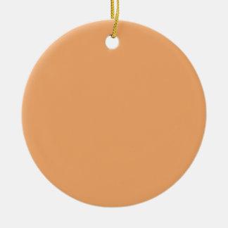 Pastel Orange Background on an Ornament