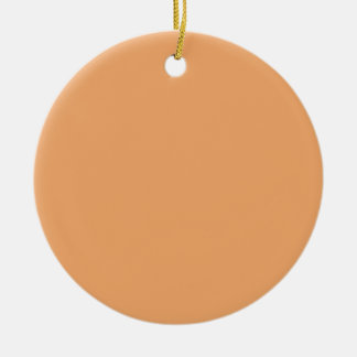 Pastel Orange Background on an Ornament