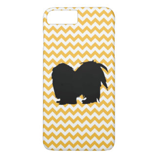 Pastel Orange Chevron With Shih Tzu iPhone 7 Plus Case