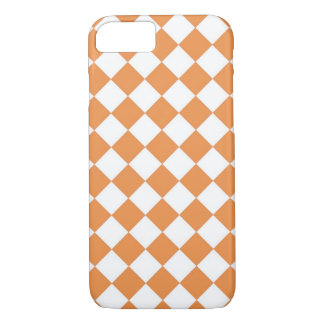Pastel Orange Diamond Checker Board Pattern iPhone 8/7 Case