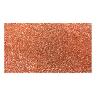 Pastel orange glitter business cards