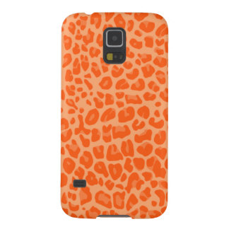 Pastel orange leopard print pattern galaxy s5 case