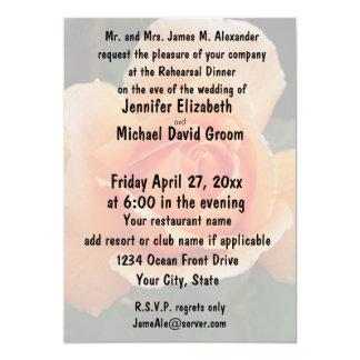 Pastel Orange Rose Rehearsal Dinner 13 Cm X 18 Cm Invitation Card