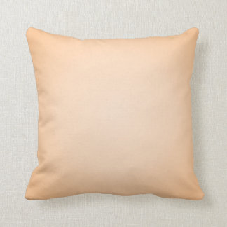 Pastel Orange Throw Pillow