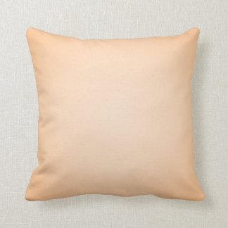 Pastel Orange Throw Pillow