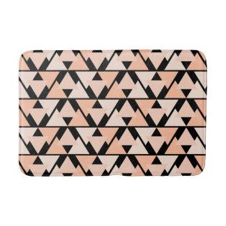 Pastel Orange Triangle Pattern Design Bathroom Mat