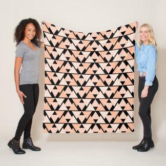 Pastel Orange Triangle Pattern Fleece Blanket