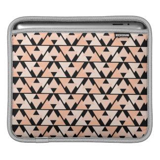Pastel Orange Triangle Pattern iPad sleeve Design