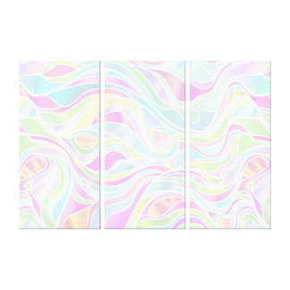 Pastel Organic Stained Glass Abstract Canvas Print