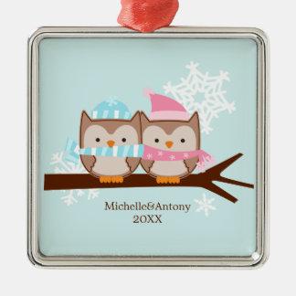Pastel Owls Ornaments