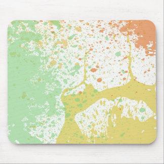 Pastel paint splatter print mouse pads