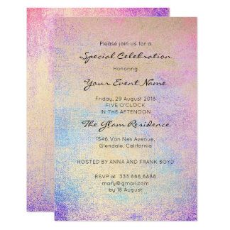 Pastel Painting Formal Pink Rose Bright Blue Navy Card