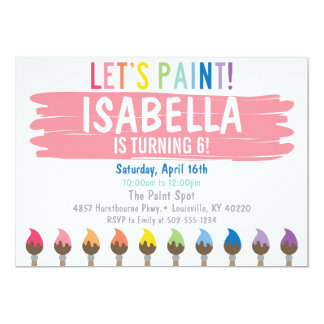 Pastel Painting Party Invitation