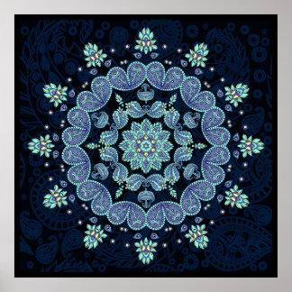 Pastel Paisley Kaleidoscope Mandala Print