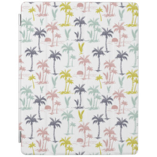 Pastel Palm Tree by the Beach Pattern iPad Cover