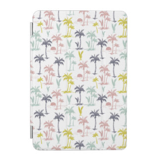 Pastel Palm Tree by the Beach Pattern iPad Mini Cover