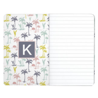 Pastel Palm Tree by the Beach Pattern Journal