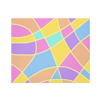 Pastel Panels Abstract Canvas Print