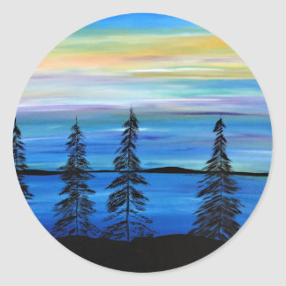 Pastel Paradise Round Sticker
