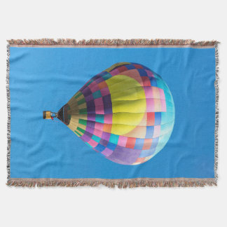 Pastel Patchwork Balloon Throw Blanket
