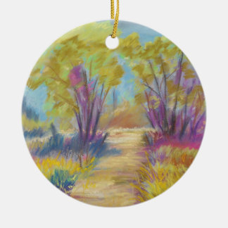 Pastel Path Round Ornament