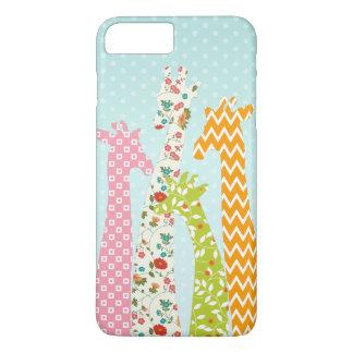Pastel Pattern Filled 4 Giraffes iPhone 7 Plus iPhone 8 Plus/7 Plus Case