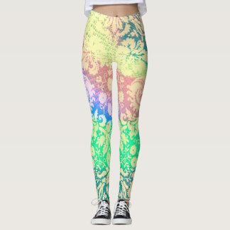 Pastel Patterns Tie Dye Leggings