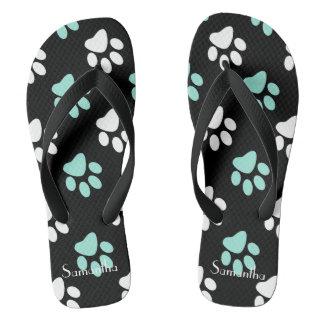 Pastel Paws Flip Flops