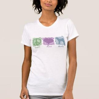 Pastel Peace, Love, and Akitas T-Shirt