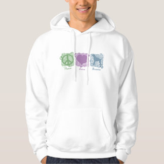 Pastel Peace, Love, and Boxers Hoodie