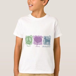 Pastel Peace, Love, and Chihuahuas Child's T-Shirt