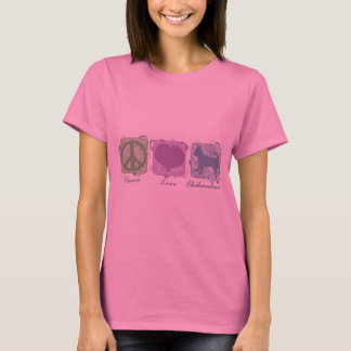 Pastel Peace, Love, and Chihuahuas T-Shirt