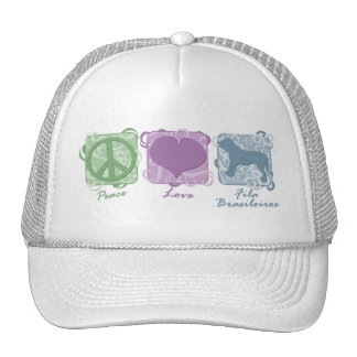 Pastel Peace, Love, and Fila Brasileiros Mesh Hat