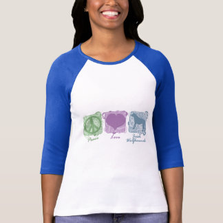 Pastel Peace, Love, and Irish Wolfhounds T-Shirt