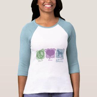 Pastel Peace, Love, and Labrador Retrievers Tee Shirt