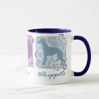 Pastel Peace, Love, and Whippets Mug