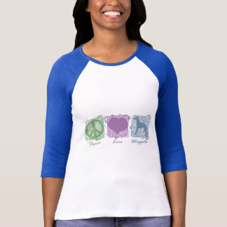 Pastel Peace, Love, and Whippets T-Shirt