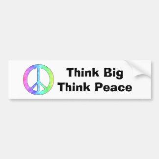 Pastel Peace Sign Bumper Sticker
