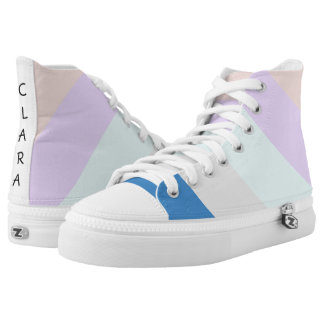 pastel peach purple mint grey blue color block high tops