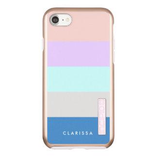 pastel peach purple mint grey blue color block incipio DualPro shine iPhone 8/7 case