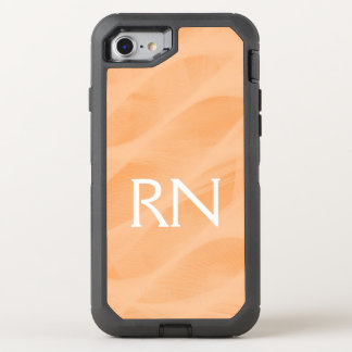 Pastel Peach Swirl RN phone case