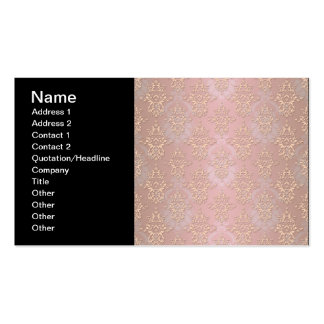 Pastel Peachy Damask Business Card Templates