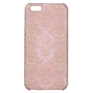 Pastel Peachy Damask iPhone 5C Cover
