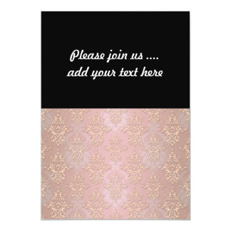 Pastel Peachy Damask Personalized Announcements