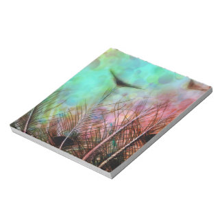 Pastel Peacock Feathers Notepad